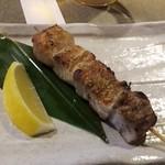 弥太郎 - 鮪の頭肉串焼き(@¥210)