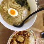 昌龍 - ラーメン+麻婆丼セット