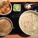 久兵衛屋 - 胡麻カモ汁うどんとミニ天丼1,039円