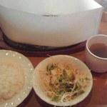 ふらんす亭 - 和風ハンバーグステーキ定食(到着時)