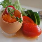 ア・マ・ファソン - 料理写真:スクランブルエッグとスモークサーモンのアスピックジュレ。