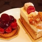 ガトーめぐろ - 料理写真:②タルトスリーズ¥368、トスキ ¥368