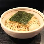 BASSO ドリルマン - HOT BASSO (辛口つけそば) + 味付け玉子