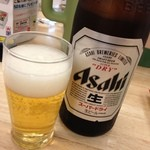 ぎょうざの満洲 - 中瓶ビール