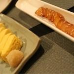 おず smoked和taste - 出し巻き卵といぶりがっこ