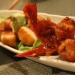 おず smoked和taste - 海老と帆立の燻製