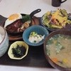 ima cafe - 料理写真:半熟玉子添えジューシーハンバーグ自家製オリジナルソース(1000円)。