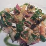 cucina Wada - 海の幸(天然シマアジ、アワビ、キャビア)