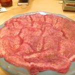 牛や たん平 - タン塩石焼き