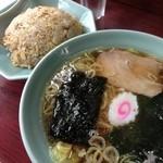 園春 - 半ラーメン半チャーハン650円