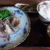 おかえりなさいほうづき - 料理写真:今回はワイン豚のロース炭火焼と太刀魚の竜田揚げ。太刀魚がホクホクで美味、自家製タルタルも最高でした☆