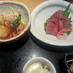 あつみ - 里芋とお刺身
