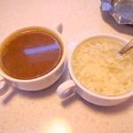 イーワイズ - スープバーの2種類のスープ
