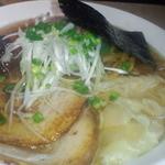 18119065 - チャーシュー麺(トッピングの雲呑は鶏、帆立の二種)