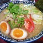 麺屋鎌倉山 - ベーコンキャベツタンメン+麺大盛り+半熟煮玉子