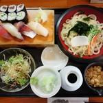 ゆう - 寿司と冷やしうどんのランチ