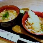 勝味 - ミニ親子丼とミニ讃岐うどんセット