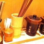 しゃぶ菜 - 箸とポン酢