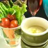 食ん菜 - 料理写真:バーニャカウダー  ガーリックトースト付き