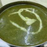 ボンベイ - アジアンセットのほうれん草チーズカレー激辛)とモッツァレラチーズナン