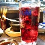 こちら西区高島裏横浜炭焼所 - ワインハイボール(赤)350円
