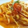 トラットリア彩會 - 料理写真:地産イワイノダイチの小麦を使用した生パスタ!小海老のアメリケーヌソース