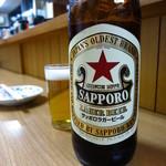 三河屋 - ビンビール(大)590円