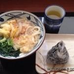 丸亀製麺 - かき揚げワカメセット