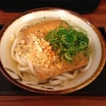 阿倍野庵 - H.25.04.06.昼 きつねうどん 300円(天かす無料キャンペーン中)
