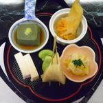 奥多摩・松乃温泉 割烹・温泉旅館 水香園 - 料理写真:2013/4/6 前菜