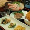 五反田 昭月庵 - 料理写真:今月のコース 3000円。  季節のお料理と鴨料理・天ぷら、〆のせいろまでのコースです。乾杯ビールと飲み放題(二時間、地酒・本格焼酎・ソフトドリンク)が付いてお得です。