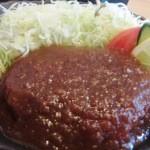 お食事処とりいち - ハンバーグ定食¥850の「メインプレート」(13年4月)