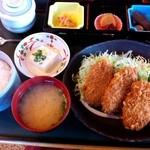 お食事処とりいち - ヒレかつ定食¥950(13年4月)