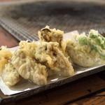 くいどうらく - 牡蛎の天ぷら