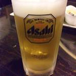 酒肴 でん助 - 生ビール中