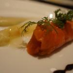 lien - 桜マススモーク、赤ピーマンのムース