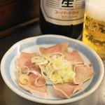 西口やきとん - 2013.4 タン刺し(200円)