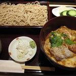 日本そば あけの蕎 - カツ丼セット ¥950
