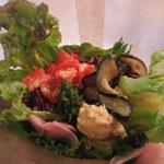 クンバ ドゥ ファラフェル - ファラフェルサンド(レンズ豆のスープとセットで1,000円)