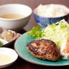 島牛 - 料理写真:あぐーハンバーグ定食(ランチメニュー):あぐーのミンチを使った、ジューシーで旨味たっぷりのハンバーグ