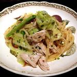 ジョカーレ - プロフィットコース:パスタ ゆで鶏とキャベツのリングイネ (2013.Feb)