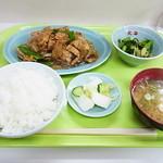 北海ラーメン - 肉炒め定食700円