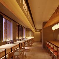 菜な - オープンキッチンとモダンな和空間。