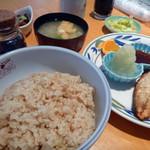 ごはん屋さん - <ランチ>塩鯖焼き定食 630円+玄米ご飯とお味噌汁200円