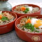 そば処 田中屋 - 料理写真:三色割子そば