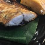 おでん惣菜 如月 - 鯖の塩焼きとだし巻きたまご¥780