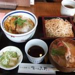 そば酒膳 あづみ野 - カツ丼セット(\1100)♪