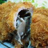 たけとも食堂 - 料理写真:「舞茸豚カツ定食」(1,600円)のとんかつ断面