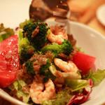 anea cafe - 小海老と野菜のバーニャカウダ