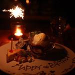 anea cafe - お誕生日のデザートプレート、事前予約必要です。